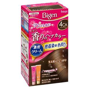 (まとめ)ホーユー ビゲン 香りのヘアカラー クリーム 4CA カフェブラウン 【×3点セット】