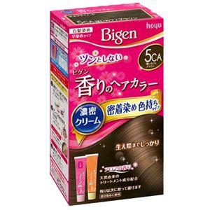 (まとめ)ホーユー ビゲン 香りのヘアカラー クリーム 5CA 深いカフェブラウン 【×3点セット】