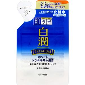 (まとめ)ロート製薬 肌ラボ 白潤プレミアム 薬用浸透美白化粧水しっとり つめかえ用 170mL 【×3点セット】