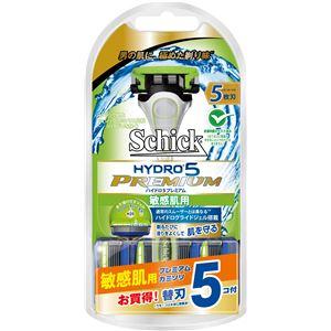 シック(Schick) ハイドロ5プレミアム敏感肌用コンボパック(替刃5コ付)