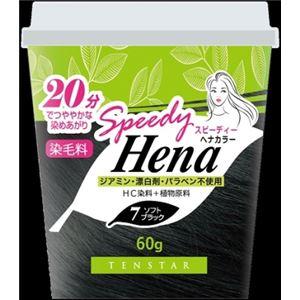 (まとめ)三宝商事 THH-03 テンスター スピーディーヘナカラー ソフトブラック 60g 【×3点セット】