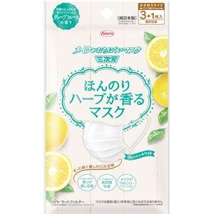 興和新薬 ほんのりハーブが香るマスクグレープフルーツの香り3+1枚 × 10 点セット
