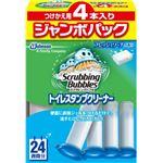 ジョンソン スクラビングバブル トイレスタンプ フレッシュソープの香り つけかえ用4本入りジャンボパック × 3 点セット