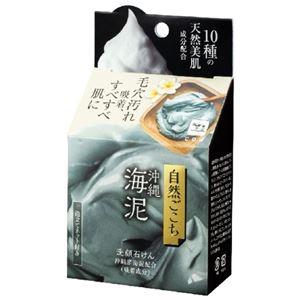 (まとめ)牛乳石鹸共進社 自然ごこち 沖縄海泥 洗顔石けん 【×6点セット】