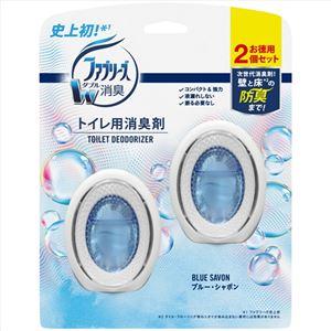 (まとめ)ファブリーズW消臭トイレ用消臭剤 ブルー・シャボン2個パック 【× 3 点セット】