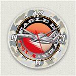 壁掛け時計/デザインクロック 【F-15戦闘機】 直径30cm アクリル素材 『MYCLO』 〔インテリア雑貨 贈り物 什器〕