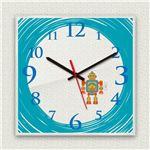 壁掛け時計/デザインクロック 【ロボット】 30cm角 アクリル素材 『MYCLO』 〔インテリア雑貨 贈り物 什器〕