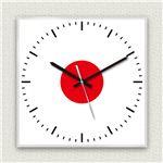 壁掛け時計/デザインクロック 【日本国旗】 30cm角 アクリル素材 『MYCLO』 〔インテリア雑貨 贈り物 什器〕