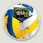 フォトフレーム時計/デザインクロック 【バレー】 幅30cm アクリル製 L版 『MYCLO』 〔送別品 記念品 贈り物〕