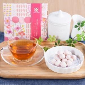 洋風豆菓子と紅茶のプチギフト キャトルクローバー イチゴチョコ味 12セット〔(豆菓子40g・紅茶2g)×12個〕