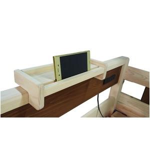 二段ベッド用棚 宮棚/収納棚 【ナチュラル 幅29cm×奥行10cm】 日本製 木製 〔ベッドルーム 寝室〕