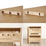 二段ベット用コートハンガー 【ナチュラル&ブラウン】 日本製 木製 〔ベッドルーム 寝室〕