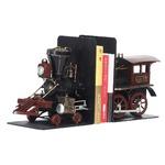ブリキのおもちゃ 置き物 【ブックスタンド02】 材質:鉄 〔インテリアグッズ ディスプレイ雑貨〕