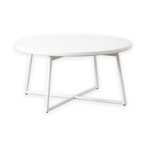 鏡面テーブル IWT-632 WH(ホワイト)本体:幅70×奥行70×高さ35cm
