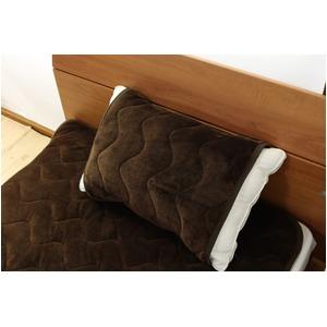 なめらか枕パッド フリーサイズ ブラウン