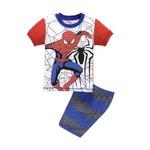 プリント ジャマ ジュニア 上下セット半袖&短パン(スパイダーマン ) 110cm 春夏 綿100%