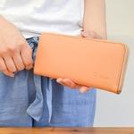 Riton3辺ファスナーレザー財布/タン(日本製)