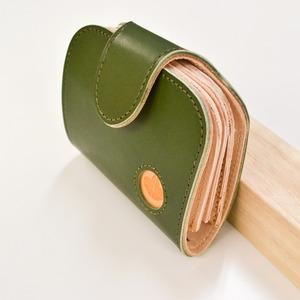 Ritonモレッティレザー二つ折り財布/オリーブ(日本製)