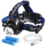 Tomo Light(トモライト) LEDヘッドライト 充電式 地震 台風 大雪 防災 特化型 単眼ライト PSE認証 18650型リチウムイオンバッテリー 2本付属【単品】