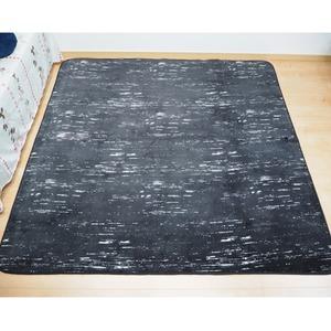 軽量 さらさら やわらかタッチデザインラグ デザート 約1.5畳 約130x185cm かすりブラック 丸洗い可