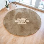 フェイクファー ミンクタッチラグ ラグマット/絨毯 【約190cm 円形 モカブラウン】 円形ラグ 高密度『SHELLY』