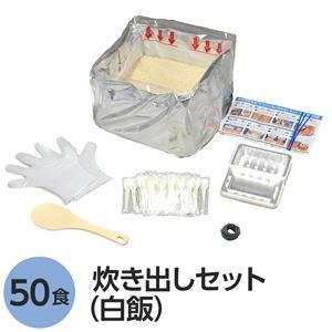 アルファ米炊出しセット白飯50食分 〔非常食 企業備蓄 防災用品〕