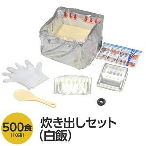 アルファ米炊出しセット白飯500食分 〔非常食 企業備蓄 防災用品〕