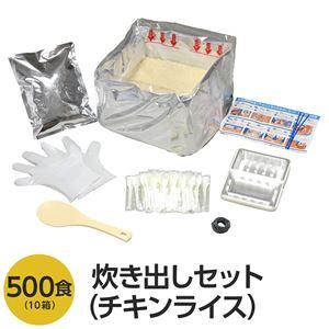 アルファ米炊出しセットチキンライス500食分 〔非常食 企業備蓄 防災用品〕