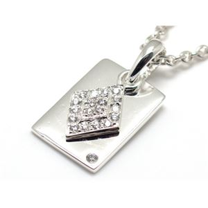 キュービックジルコニア×ダイヤ&トランプカードモチーフ・シルバーペンダント 45cm チェーン付き ZZPS-675wd-c45
