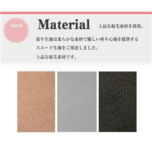 2WAYミニラブソファー/簡易ベッド 【ブラウン】 コンパクト 肘付き 同色ロングクッション付き