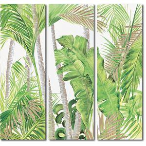ウッドスカルプチャーアート(3枚セット)「パーム&バナナ」