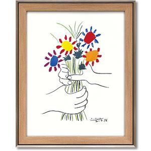 パブロ・ピカソ アートフレーム 「花束を持つ手」