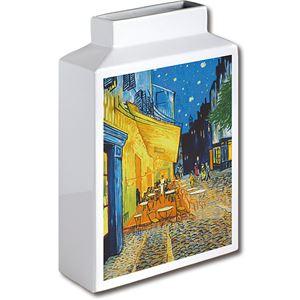 ミュージアムアート フラワーベース MV-04001 Mサイズ・タテ ゴッホ 「夜のカフェテラス」