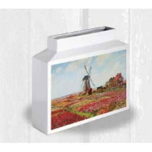 ミュージアムアート フラワーベース MV-04008 Mサイズ・ヨコ モネ 「Champ de tulipes」