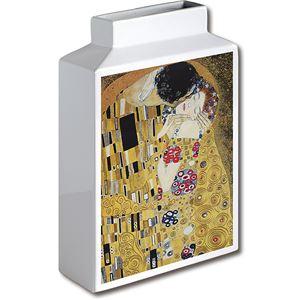 ミュージアムアート フラワーベース MV-05002 Lサイズ・タテ クリムト 「ザ・キス」