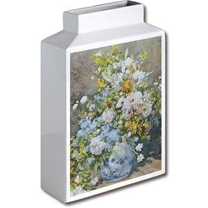 ミュージアムアート フラワーベース MV-05004 Lサイズ・タテ ルノワール 「大きなかびんの花」