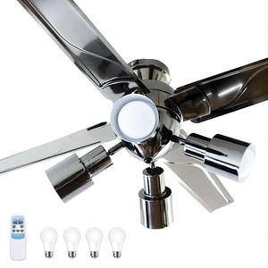 VENTOTA シーリングファンライト Acero(アーチェロ) LED電球 リモコン付 4灯ブラックニッケル塗装 モノトーン シンプルで高級なデザイン カッコいい インダストリアル風 天井照明
