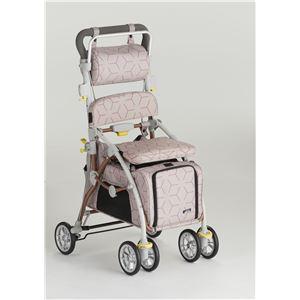 フランスベッド ペットとお散歩できるペットカート ブレーキ 杖ホルダー付き ラクティブペット あずき
