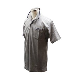VINCENZO VALENTINO 半袖デザインポロ グレー Lサイズ