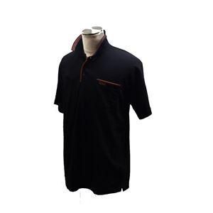 VINCENZO VALENTINO 半袖デザインポロ ブラック Lサイズ