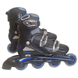 一般用インラインローラースケート ブルー 24〜27cm(4段階 サイズ調整可能)