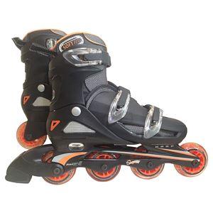 一般用インラインローラースケート オレンジ 24〜27cm(4段階 サイズ調整可能)