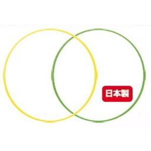 (まとめ)フラフープ 80cm イエロー・グリーン アソート 24本セット【各色12本ずつ】