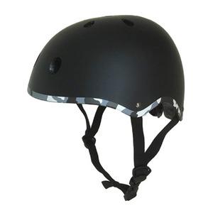 キッズ ジュニア ラウンドヘルメット ブラック