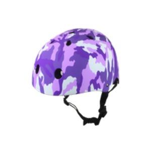 キッズ ジュニア ラウンドヘルメット カモパープル