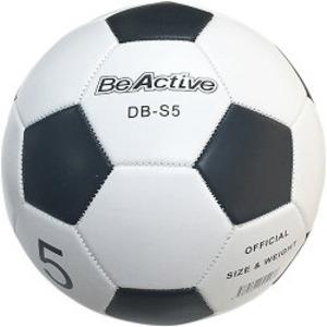 (まとめ)合皮サッカーボール 5号 白×5黒 亀甲【×8球セット】