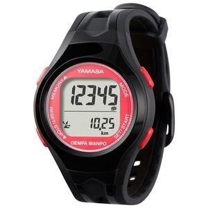 電波時計内蔵腕時計型 ウォッチ万歩計 DEMPA MANPO ブラック×レッド TM450-BKR