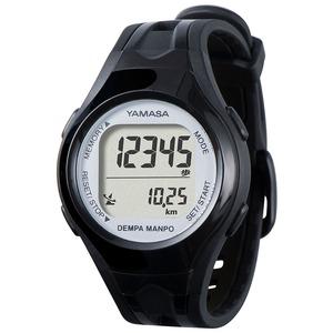 電波時計内蔵腕時計型 ウォッチ万歩計 DEMPA MANPO ブラック×シルバー TM450-BKSL