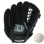 軟式野球グローブ一般用 左利き用 ブラック 12インチ&M号公認球セット