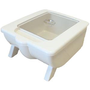引出収納用樹脂製ライスディスペンサー(10kg収納) システムキッチン用 マイルドホワイト